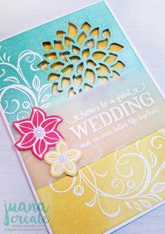 Juana Ambida Independent Stampin' Up!® Demonstrator Australia: Falling Flowers and Better Together - Wedding Card