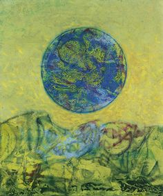 Max Ernst - La Terre à travers les âges, 1961, oil on canvas, 55 x 46 cm  21 5/8 x 18 1/8 in.