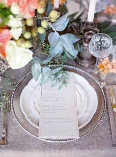 Photo-ready: http://www.stylemepretty.com/2015/04/22/10-tips-for-setting-a-gorgeous-table/