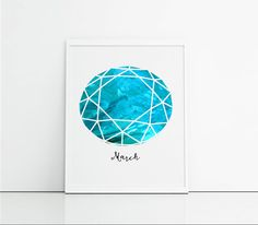 Items similar to Pisces gift aquamarine birthstone art present - Turquoise and teal gemstone - home decor wall art - Pisces birthday gift on Etsy Aquamarine Jewelry, Birthstone Jewelry, Birthday Wall, Birthday Gifts, Pisces Birthday, Aqua Nails, Home Decor Wall Art, That Way, Natural Gemstones