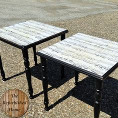Sheet Music Table Makeover