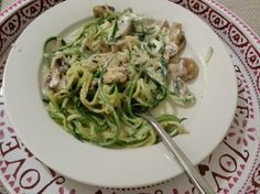 Courgetti Fastonara - The 5-2 Diet Book  120-145 cals