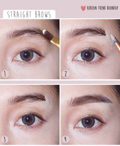 Straight Eyebrows | 7 Korean Makeup Trends You Need To Try Now