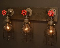 Farmhouse light reclaimed wood industrial by UnionHilIronWorks