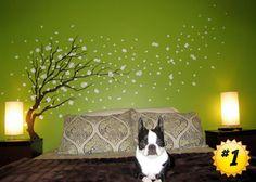 Cherry tree mural