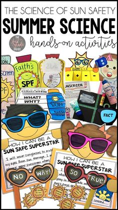 Teach your students about the importance of sun safety & sunscreen with these hands-on & engaging cross-curricular science activities & experiments!