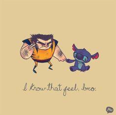 """""""I know that feel, bro"""" (""""Eu sei como você se sente, cara""""), é uma série de ilustrações de Chris G"""