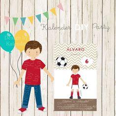 Soccer DIY Happy Birthday Invitation Invitación Fiesta Cumpleaños Futbol