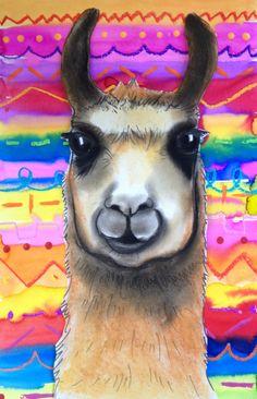 Llamas with Peruvian Textiles - MaryMaking