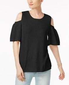 Charter Club Cashmere Cold-Shoulder Sweater, Only at Macy's -