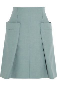 Pocket tied into shape of garment - Chloé Woven A-line skirt Skirt Pants, Dress Skirt, Fashion Details, Fashion Design, Fashion Styles, Fashion Site, Moda Chic, Skirts With Pockets, Mode Inspiration