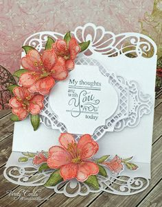My Thoughts are With You easel card by Liz Walker... lovely!