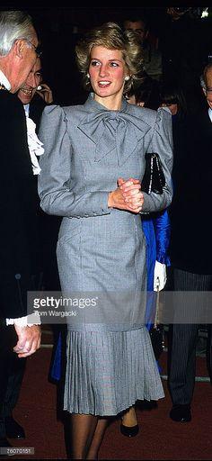 London, England December 1995 Princess Diana at Guildhall Red Cross Market.