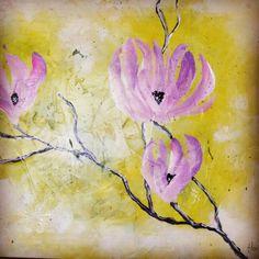 """Quadro""""magnolias"""""""