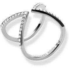 Michael Kors Pavé Open Arrow Ring