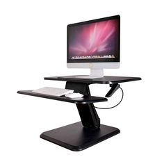 Desk V000j 31 5 X 20 Height Adjule Standing Converter 32 Platform Riser W Espresso Dark Wood Grain Finish Enhance Your Work Desks Pinte