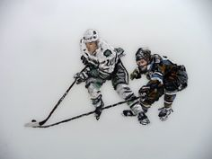 Painting by artist John Robertson of Dew Doughty, a Canadian professional ice hockey defenceman who currently plays for the Los Angeles Kings of the National Hockey League (NHL). Check out his other works here! Hockey Puck, Hockey Teams, Hockey Players, Ice Hockey, La Kings Hockey, Sports Sites, La Art, Los Angeles Kings, Canadian Art