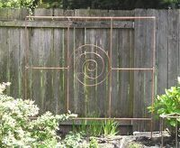 Copper pipe garden trellis project | Photo by Jeff Fisher