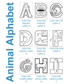 Color the Animal Alphabet #printables for kids