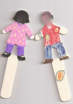 Stick puppets for conversation practice and story making! easy to make and you can put the children face in order to be more realistic.