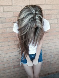 Brown hair with blonde Highlights :)