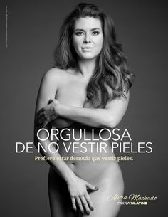 Alicia Machado is the newest celebrity to join PETA Latino in their fight against skinning animals for human clothing. Salma Hayek, Noelia Instagram, Peta Ads, Free Id, Save Wildlife, Bethenny Frankel, New York Daily News, Miss America, Save Animals