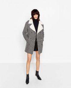 Image 1 of COAT WITH FLEECY INTERIOR from Zara