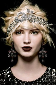 Margaret Rowe Headpiece, Heidi Daus Earrings and Timeless by Naeem Khan Jacket