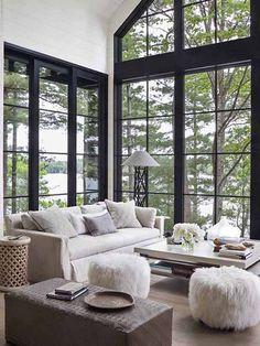 Step Inside an Interior Designer's Dreamy Lakeside Retreat http://www.mydomaine.com/anne-hepfer-home-tour