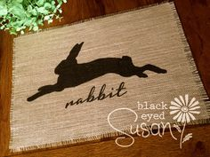 "Thank you Emily. I appreciate your business! ★★★★★ ""am a repeat buyer, love the rabbit mats, thank you"" emily n. http://etsy.me/2oO6ci3 #etsy #housewares #homedecor #easter #easterplacemats"