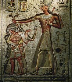 Ramses II, one of the greatest kings of Egypt .. He led a military campaign Against black Africans and Asians and Libyans
