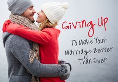 They say marriage is give and take. Sometimes it's also about giving up things you want to hold on to.