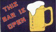 """This Bar is Open"" Beer Outdoor Flag (3' x 5') . $19.95"