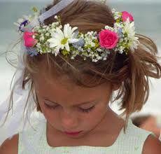 blomsterkrans till håret