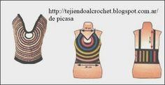 TEJIDOS A CROCHET - GANCHILLO - PATRONES: MUSCULOSA FRESQUITA TEJIDA A CROCHET