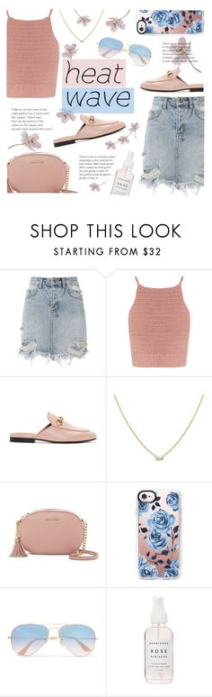 """How to Dress for a Heat Wave(Top Fashion Set 878/2017)"" by sandralalala ❤ liked on Polyvore featuring Ksubi, SHE MADE ME, Gucci, MICHAEL Michael Kors, Casetify, Ray-Ban and Herbivore"