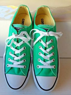 5fe1fdecfdb6 Converse Chuck Taylor Low Tops Green OX Unisex Sneakers Tennis Shoes 1J792