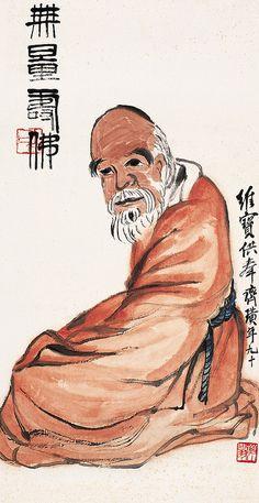 齐白石 无量寿佛 by China Online Museum - Chinese Art Galleries, via Flickr