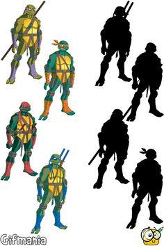 match ninja turtles