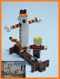 Adorable LEGO Calvin and Hobbes