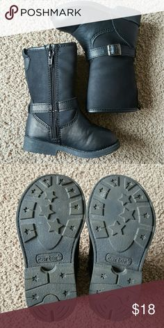 Carter's toddler girl buckle boots Carter's toddler girl buckle boots size 5. Gently worn in excellent condition. Carter's Shoes Boots