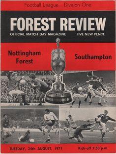 Vintage Football Programme - Nottingham Forest v Southampton, 1971/72 season, by DakotabooVintage, £3.99
