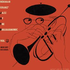 Norman Granz' Jazz at the Philharmonic Vol. 3, Mercury Records (Clef series) 10-inch LP -- design and drawing by David Stone Martin