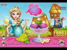 Juegos de Frozen: Embarazada Elsa Helado Antojos