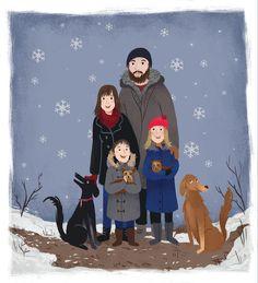 Custom family portrait by Mare Lloba (via Etsy).