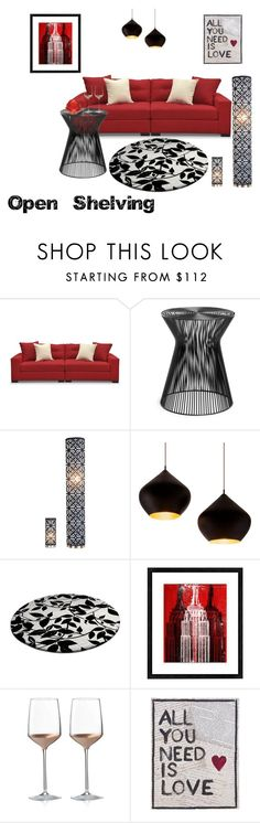 """Open Shelving"" by azraa-tursunovic ❤ liked on Polyvore featuring interior, interiors, interior design, home, home decor, interior decorating, Tom Dixon, Universal Lighting and Decor, Wedgwood and Home Decorators Collection"