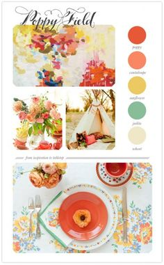 warm colorful color palate