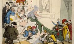 Out of step … The louche world of Thomas Rowlandson's Exhibition Stare-Case gave way in short space to the strait-laced sensibilities of the Victorian age. Photograph: © The Trustees of the British Museum/British Museum