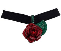 With its thick ribbon and statement bloom, this Beauty and the Beast Choker offers an alluring of-the-moment silhouette with a touch of Victorian. Ribbon Choker, Ribbon Jewelry, Red Jewelry, Leather Jewelry, Cute Jewelry, Fashion Jewelry, Choker Jewelry, Ribbon Necklace, Indian Jewelry