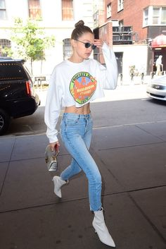 Get a Load of Gigi Hadid's Sweatshirt, and Let the Childhood Memories Come Flooding Back